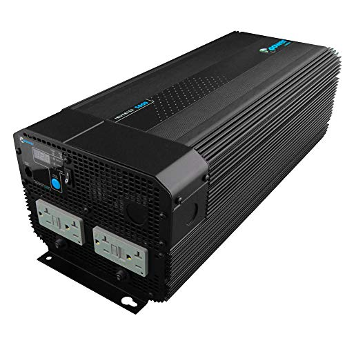 Xantrex 813-5000-UL XPower 5000 12V High Power Inverter, 4000W Max Continuous Power, 10000W Peak Surge Capacity Peak, Four GFCI AC Receptacles - 034388-10LPA