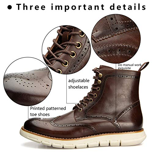 MEIJIANA Men's Oxford Derby Boots Lace-up Casual Comfortable Men's Boots
