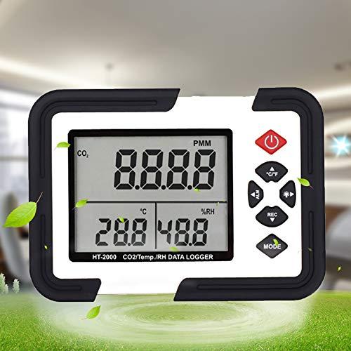 LAYBAY Kohlendioxid Detektor 0-9999 Ppm Für Den Innenbereich, Detektor Co2 Melder Mit Schnellladung Zur Luftqualitätsanalyse