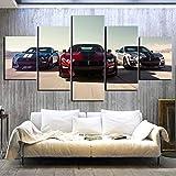 Leinwandbild Wandkunst Malerei 5 Panel Luxus Autos Ford