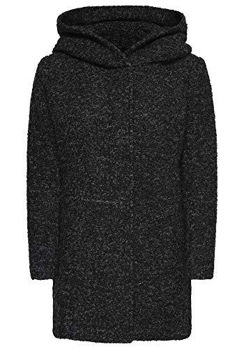 ONLY Onlsedona Boucle Wool Coat Otw Noos Abrigo, Negro (Black Detail:Melange), S...