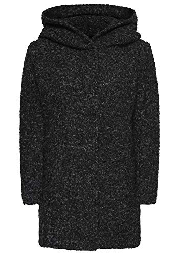 Only Onlsedona Boucle Wool Coat Otw Noos Giubbotto, Nero (Black Detail:Melange), 42 (Taglia Produttore: Small) Donna