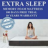 Extra Sleep Premium Memory Foam Mattress 8 inch Orthopaedic Body Posture Contouring, King