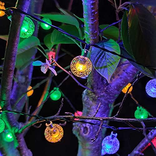 Guirnaldas Luces Exterior Solar Luces de Cadena LED a Prueba de Agua Solar, 2 Colores, para árboles, Jardines en Interiores, terrazas, Patios, Salas de reuniones Luces Exterior