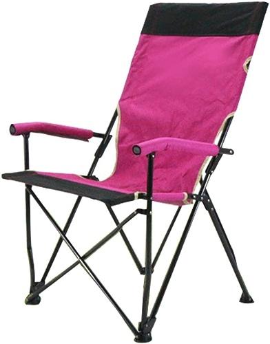 Chaise De Camping Pliante en Plein Air avec Accoudoirs Structure en Acier Stable Patins Antidérapants Randonnée Randonnée Chaise De Loisirs Portable