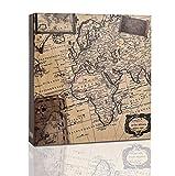 ARPAN Álbum Fotos de 200 x 4 x 6 Pulgadas (10 x 15 cm), Mapa Antiguo, 22 x 21.5 x 4.5 cm Approx