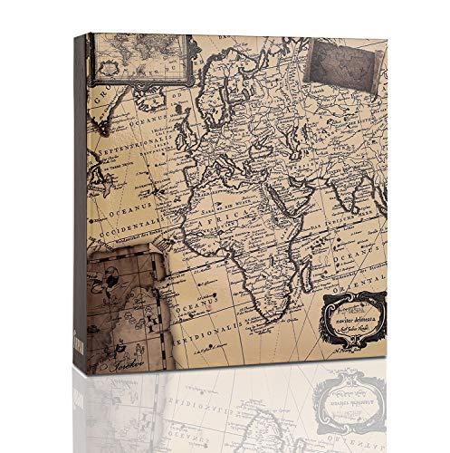 ARPAN Fotoalbum Einstecktasche Memo-Fotoalbum für 200 x 4 x 6 Zoll Bilder 10 x 15 cm alte Karte 22 x 21,5 x 4,5 cm