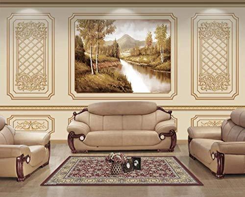 Papier Peint 3D Place De Paysage Naturel Rétro Médiévale Décoration Murale Home Decor Art