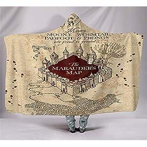 Manta con capucha, manta de impresión digital de Harry Potter, doble capa de terciopelo ártico, capa gruesa, cálida y no… 17