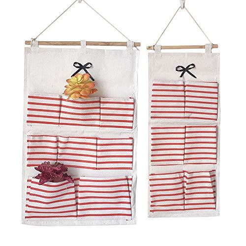 2 stuks opbergtas voor aan de muur, waterdicht over de deur closet organizer, opvouwbare hangende tas, organizer, linnen organizer voor slaapkamer, badkamer, keuken