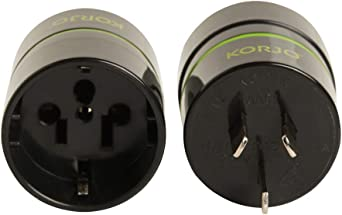 Korjo AA 01 International Power Adapter, 4.2 Centimeters, Black