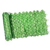 NIMON Künstliche Abschirmung Ivy Leaf Hedge Panels auf Rolle Sichtschutz Gartenzaun 1m x 3 M grünes Kunstgitter Balkon Abschirmung Sichtschutz Heckenwand Landschaftsbau Gartenzaun UVFade Classic