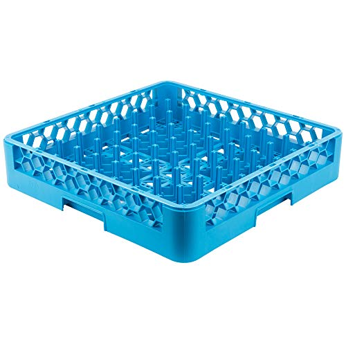 "KITMA Dish Rack - Commercial Dishwasher Rack Full-Size with 2 15/16"" Pegs Full-Size Dishes Plate Drying Rack with Open Sides, Blue 19.75""×19.75""×4""(Pack of 6)"