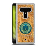 Head Case Designs Officially Licensed Riverdale High School Graphics 2 Gold Clear Hybrid Liquid Glitter Compatible with HTC U12+ / U12 Plus