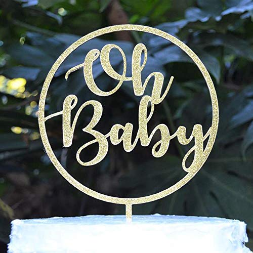 Yoin Circle Oh Baby Cake Topper Baby Douche Taart Topper Gepersonaliseerde Party Decor Voor Baby Jongen Meisje Kinderen Eerste 1e Verjaardag Levering