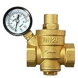 Válvula de alivio de presión Ajustable Presión Calentador de agua Válvula reductora con calibrador de presión de la válvula de seguridad Meter regulador del regulador de 1/2'3/4'1' Para conexión de tu