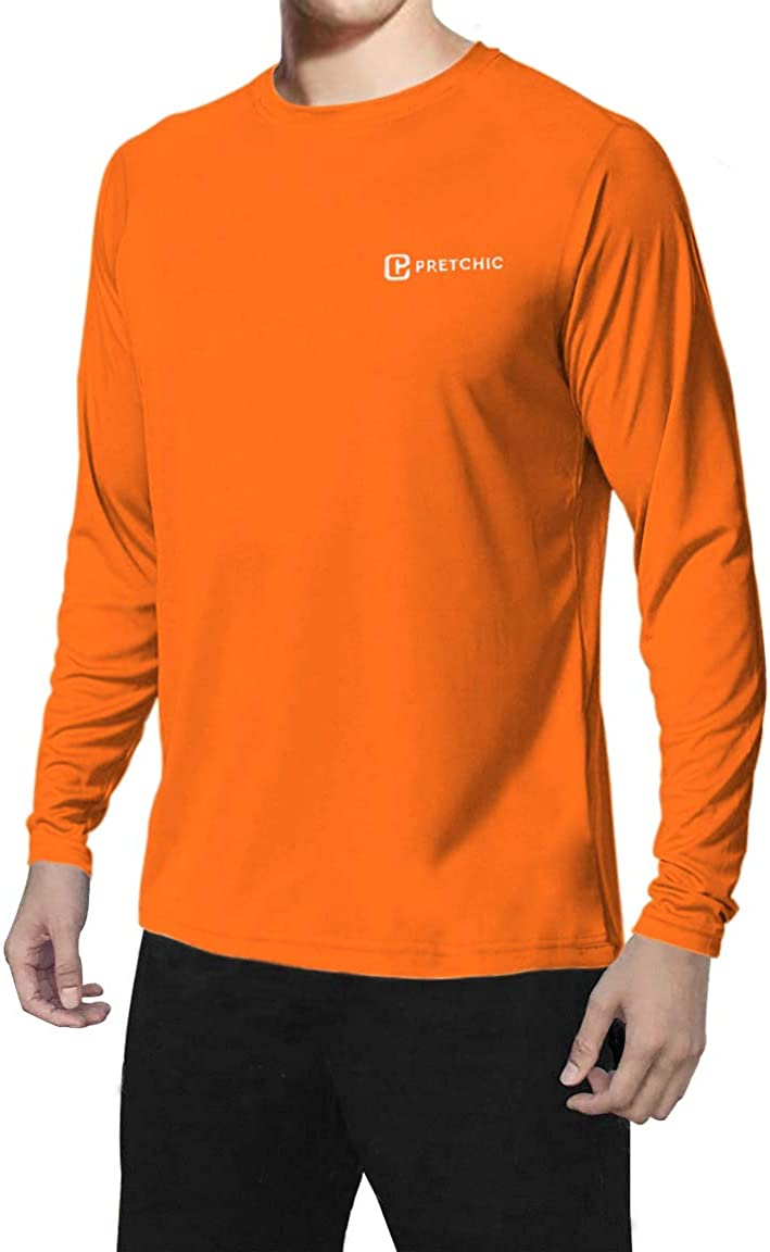 Pretchic Now free shipping Men's Popular product Sun Protection Workout Quick Shirt Outdoor Dry T