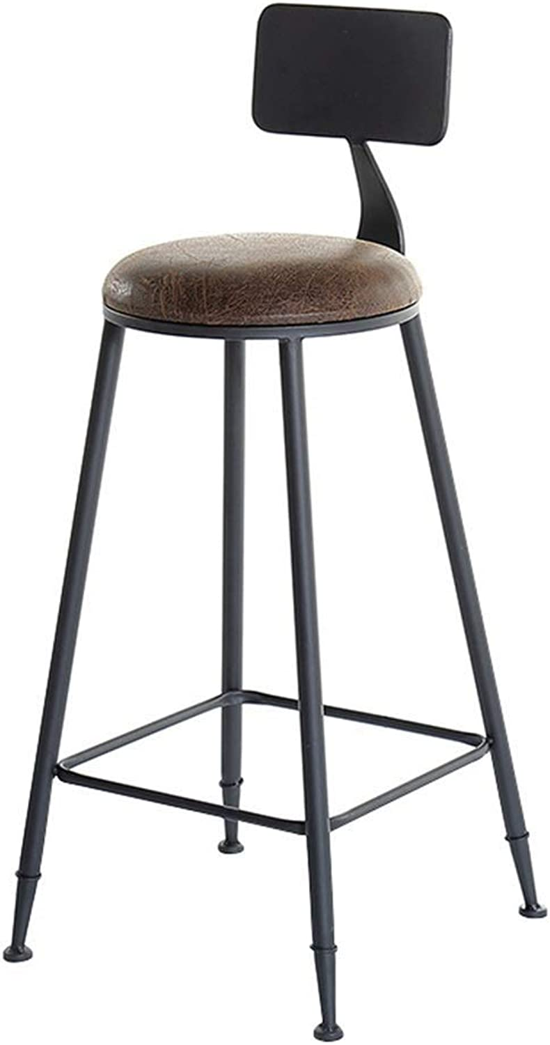 Bar Stool, Bar Chair, High Bench, High Stool, Kitchen Breakfast Counter, Greenhouse Cafe Bar, Load Capacity 150kg (seat Height 75 cm) (color    2)