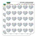 "Nurse Doctor Pattern Healthcare Stethoscope Thermometer 1"" Heart Shaped Planner Calendar Scrapbook Craft Clear Stickers"