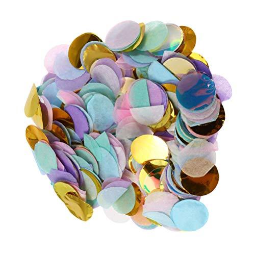TOYANDONA 50G de Confeti de Colores, Confeti de Papel de Círculo de 0.4 Pulgadas para Bodas Cumpleaños Aniversario Artesanías