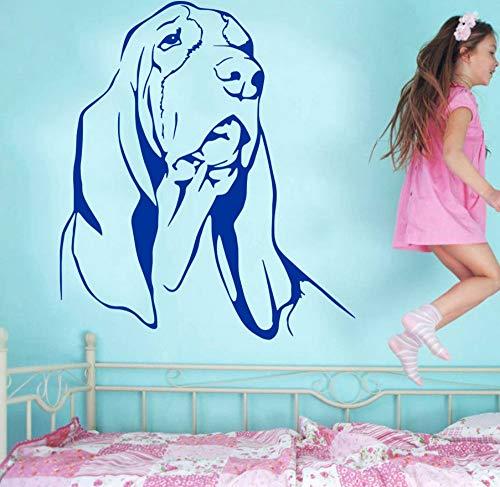 Venta caliente decoración del hogarBASSET HOUND DOG vinilo arte de la pared etiqueta decoración de la habitación niños decoración Mural pegatinas57 * 65 cm