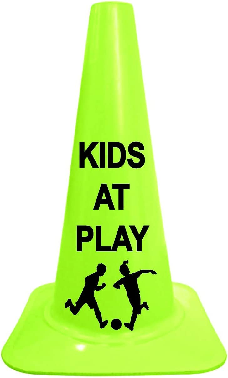 Yellow 2x4 Safety SignSlow Kids at Play 25 inch x11.5 inch x1.5 inch