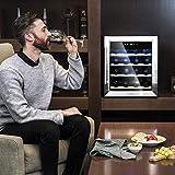 Cecotec Weinkühlschrank von 8-16 Flaschen. Tür aus Kristall- Design, Paneel Taktil und LED Bildschirm. (16, Holz) - 4