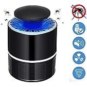 Lixada Insektenvernichter, Elektrischer Insektenvernichter UV LED Mückenvernichter Insektenfalle Mückenlampe Mückenschut Fluginsektenvernichter für Innen und Außeneinsatz (Weiß) (Schwarz)