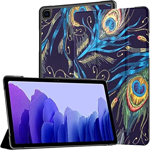 Funda para Samsung Galaxy Tab A7 Tableta de 10,4 Pulgadas 2020 (sm-t500 / t505 / t507), diseño de Plantilla de Moda Ropa Colas Pavos Reales Cubierta de Soporte de ángulo múltiple con activación/Sus