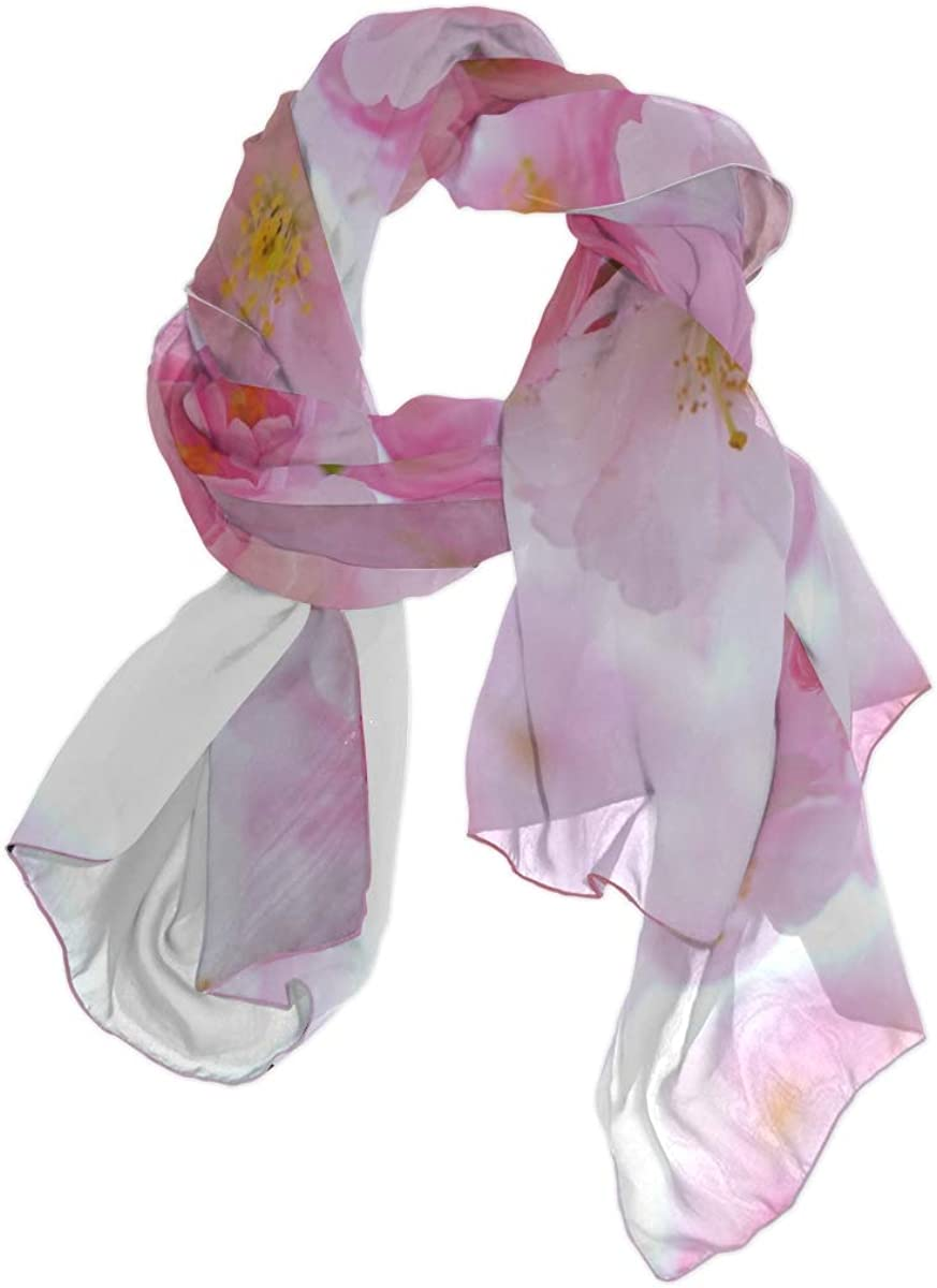Fashion Scarf For Women Japanese Cherry Trees Flowers Spring Japanese Flo Mens Long Scarf Shawl Scarf Wrap Lightweight Print Scarves Shawls And Wraps Warm Hiking Scarf Women