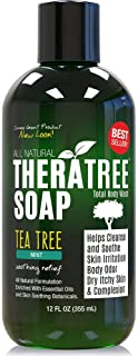 TheraTree Tea Tree Oil Soap with Neem Oil – 12oz – Helps Skin Irritation,..