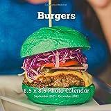 Burgers 8.5 X 8.5 Calendar September 2021 -December 2022: Monthly Calendar with U.S./UK/ Canadian/Christian/Jewish/Muslim Holidays-Cooking Meat