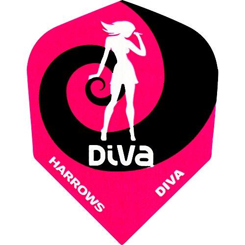Dart Flights–Harrows Flights–Diva–Pink Swirl–1Set (3)