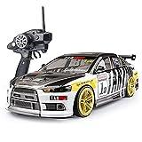 CUIGANGZ 1/10 escala de control remoto carreras de juguete de coche 2.4g deriva eléctrica RC Coche deportivo altura ajustable RC Vehículo 4WD RC Coche con descenso y resistencia al choque, 4 0KM / HR,