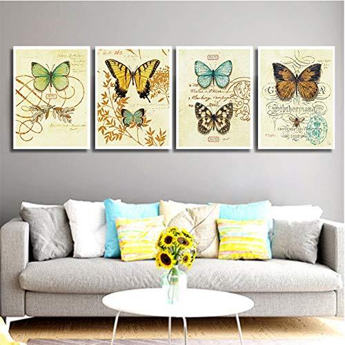 LKXL wandfoto's decoratief schilderij woonkamer klein fris schilderij restaurant muurschildering vlinder verticale editie plexiglas