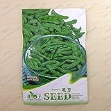 semillas vegetales paquete originales, semillas de soja de Edamame, floración madura 90 días, 20 partículas semillas / bolsa