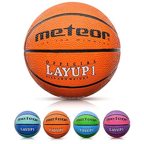 Balón Baloncesto Talla 1 Pelota Basketball Bebe Ball Infantil Niño Balon Basquet - Baloncesto Ideal para los niños y jouvenes para Entrenar y Jugar - Tamaño 1 Layup