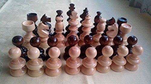 Neu kunsthandwerker, handarbeit europäischer hasel Holz Schachfiguren, König ist 8.2 cm, nussbraune Farbe, klassischer Entwurf