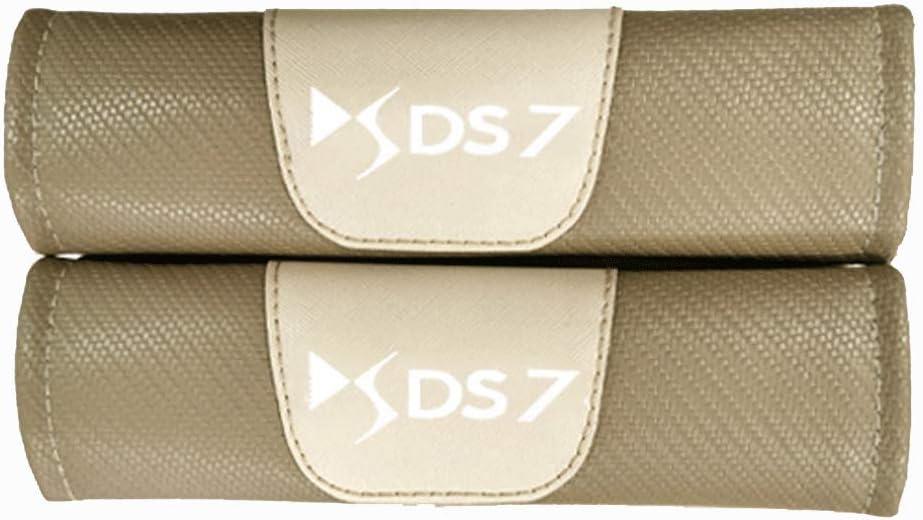 ZYLFP Almohadillas para Cintur/óN De Seguridad para Citroen DS7 All Models 2 Piezas Fibra De Carbono Interior Fundas Coche Piezas