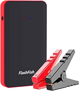 FlashFish ジャンプスターター 8000mAh 12V車用エンジンスターター 最大400A 緊急始動器 スマホ急速充電器 モバイルバッテリー 緊急 LEDライト搭載 18ヶ月保証
