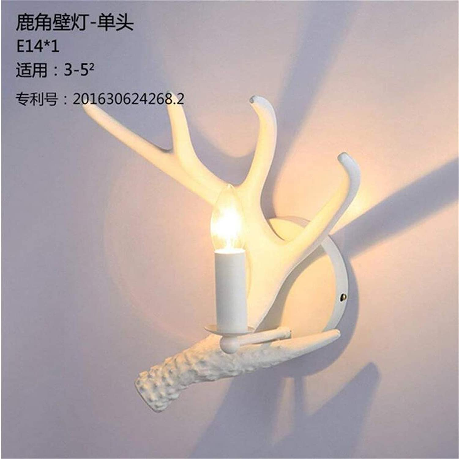 Modern Wall Lights Decorated Weiß Antler Wall Light Walls Antler Lamps Living Room Bedroom Corridor Staircase Wall Lamp [Energy Class A+++]