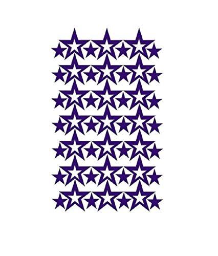 Billion Deals Wandaufkleber Sterne für Kinderzimmer, Kinderzimmer, Wandaufkleber, Heimdekoration, für Jungen und Mädchen, Geschenke, kleine Sterne violett