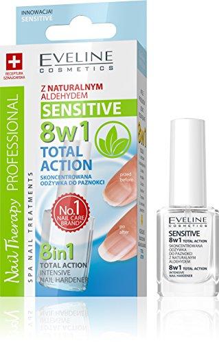 EVELINE Cosmetics Nail Therapy Nagelpflege Nagelhautpflege verschiedene Pflegemittel für schöne und gesunde Nägel, Farbe:8in1 SENSITIVE 12 ML