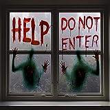 Angshop 2 piezas Halloween sangrienta ventana sangrienta carteles Decoración del partido para las casas encantadas, fiesta de Halloween ventana se aferra