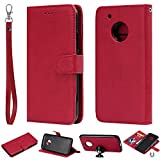 nancencen Compatible avec Motorola Moto G5 Plus Housse, Cuir PU Portefeuille Coque TPU 2 in 1...