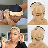 Jessica Hair Lace Wig Grip Velvet Comfort Adjustable Elastic Wig Band for Lace Wigs and Frontal With Swiss Lace For Seamless Transition(Beige Color)