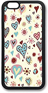 WangXiuhua IP6 Plus Case Valentines Day Hearts Textures Black Soft TPU Cover For iPhone 6 Plus (5.5 inch) Colorful Pattern...