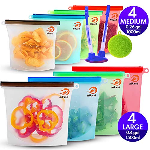 Silicone Bags Reusable...
