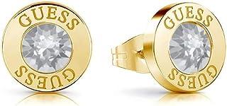 Indovinare cristalli Orecchini in oro lucido placcato chirurgico UBE78095 acciaio inox [AC1148]