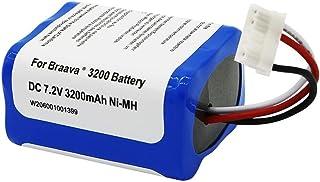 3200mAh 超大容量 ブラーバ 380J バッテリー 互換 iRobot ロボット 371J 4449273 380 380T Mint Plus 5200 5200c 5200B 対応 アイロボット ブラーバ 7.2V 3.2Ah